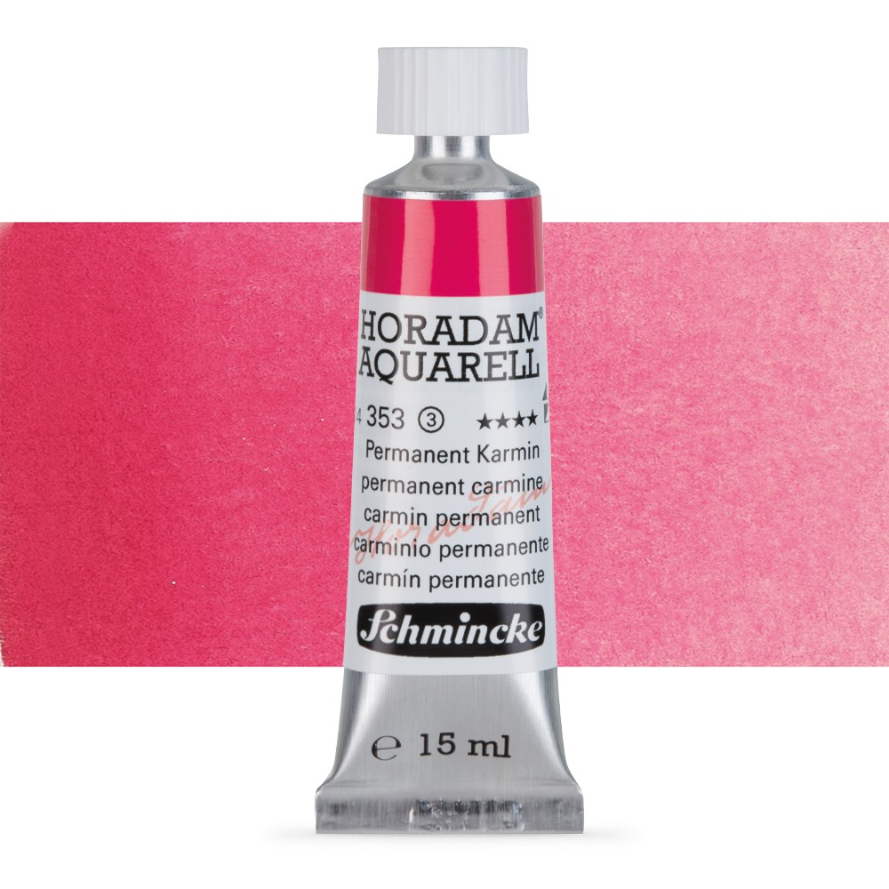 Schmincke : Horadam Watercolour Paint : 15ml : Permanent Carmine