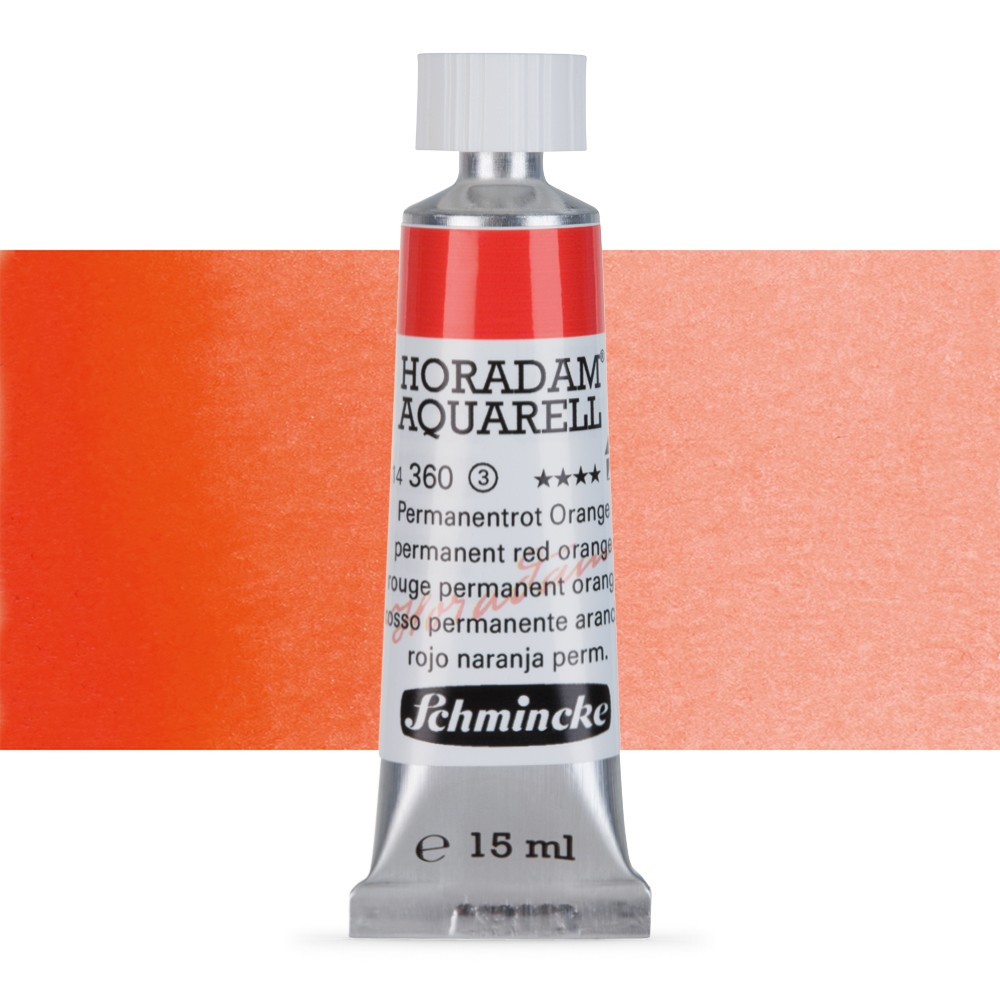 Schmincke : Horadam Watercolour Paint : 15ml : Permanent Red Orange