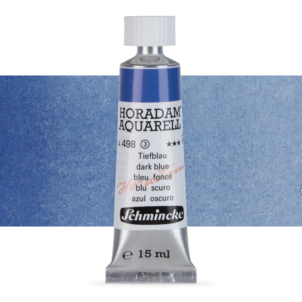 Schmincke : Horadam Watercolour Paint : 15ml : Dark Blue Indigo