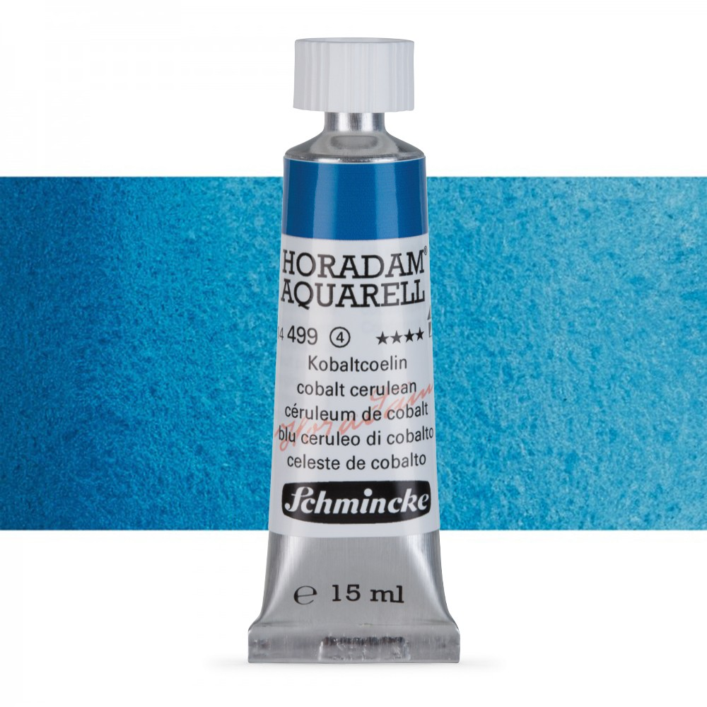 Schmincke : Horadam Watercolour Paint : 15ml : Cobalt Cerulean