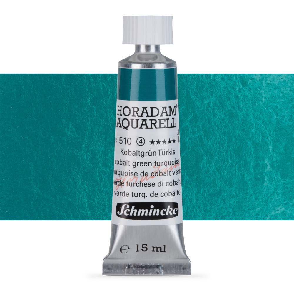 Schmincke : Horadam Watercolour Paint : 15ml : Cobalt Green Turquoise