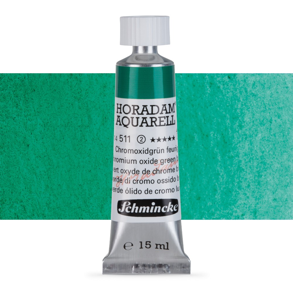 Schmincke : Horadam Watercolour Paint : 15ml : Chromium Oxide Green Brilliant