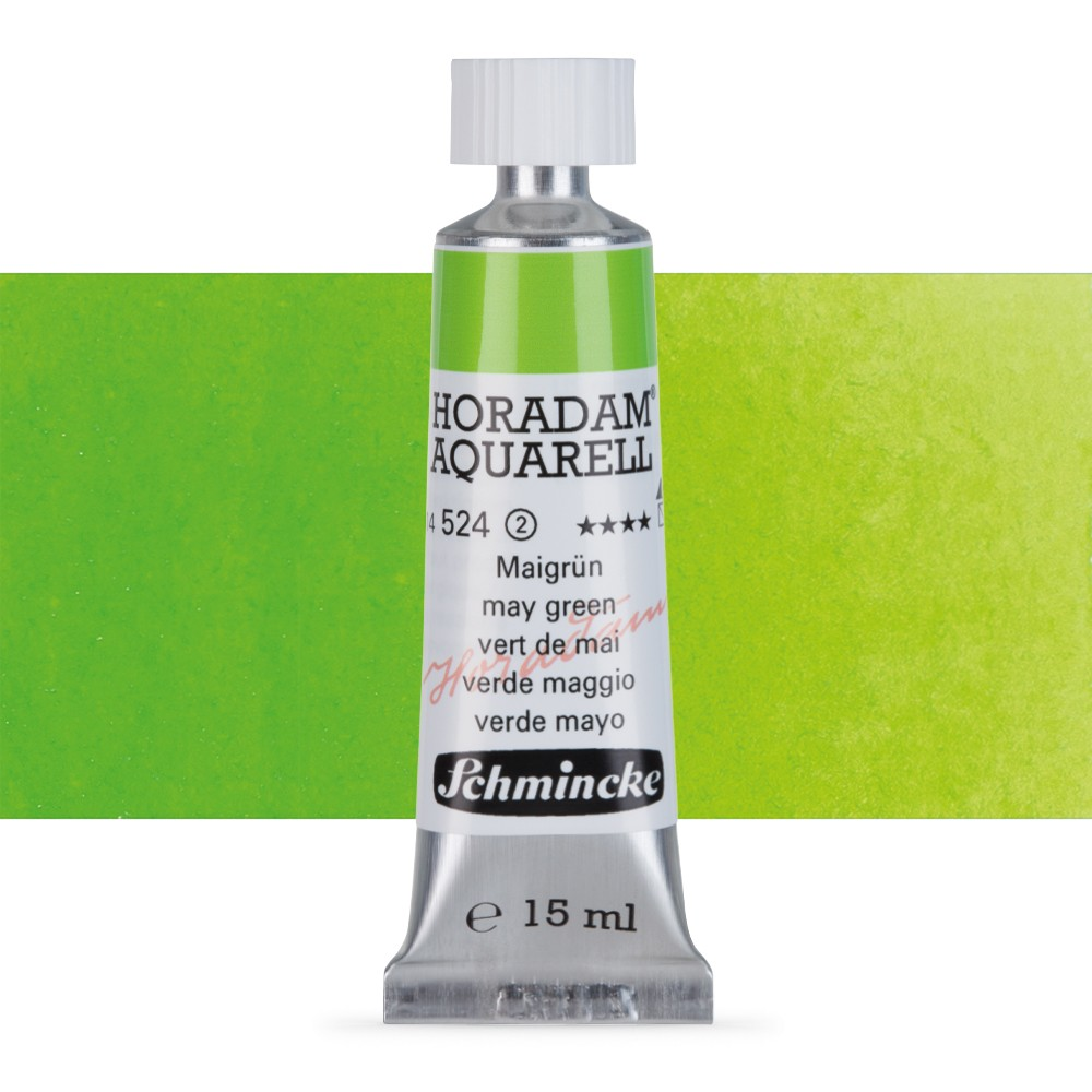 Schmincke : Horadam Watercolour Paint : 15ml : May Green