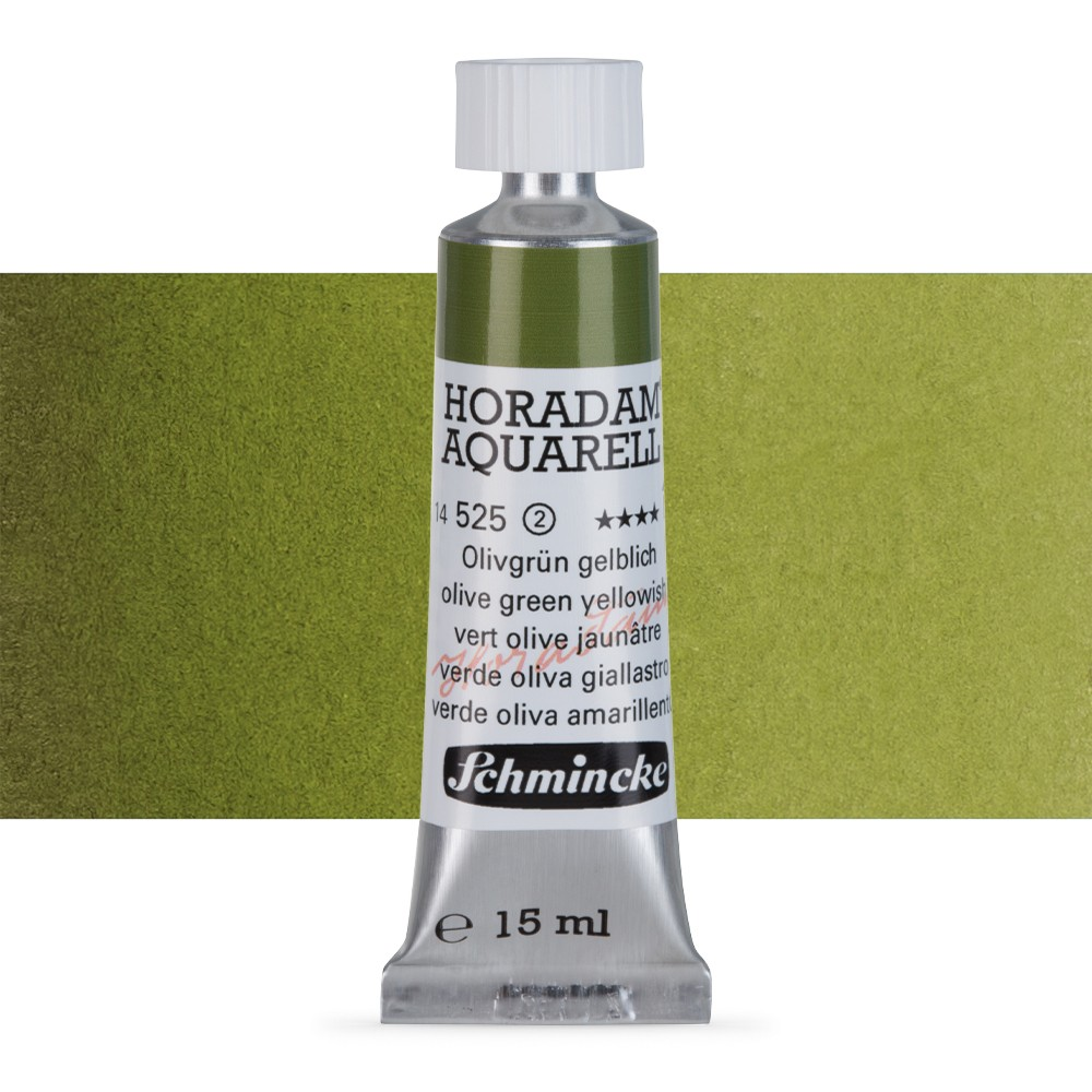 Schmincke : Horadam Watercolour Paint : 15ml : Olive Green Yellow