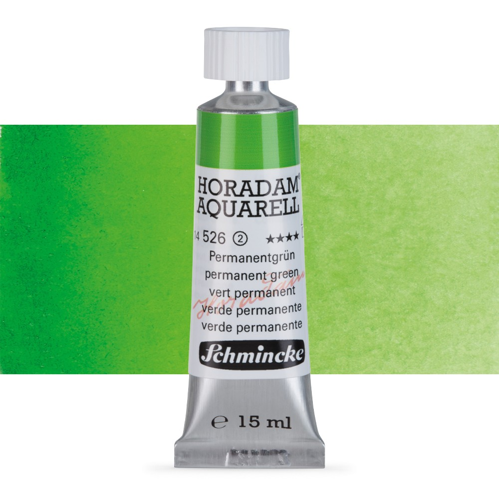 Schmincke : Horadam Watercolour Paint : 15ml : Permanent Green