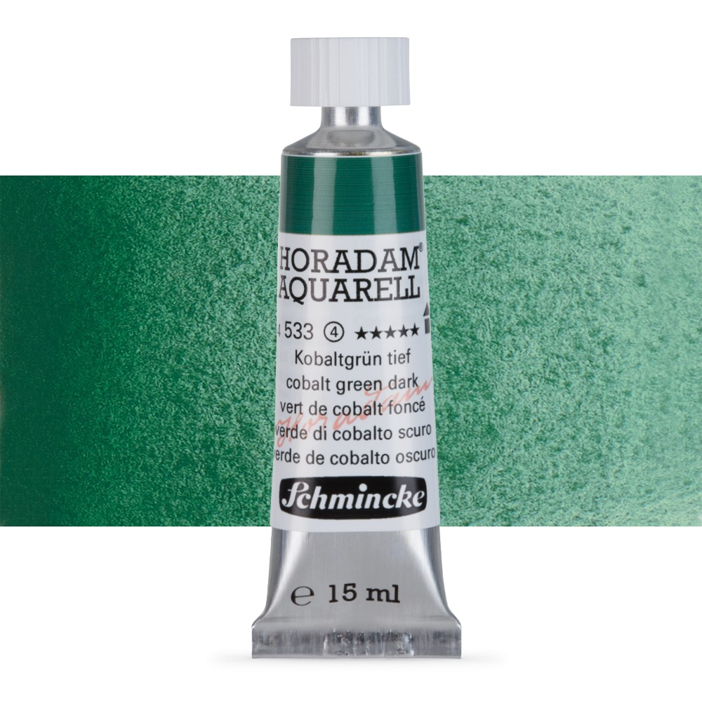 Schmincke : Horadam Watercolour Paint : 15ml : Cobalt Green Dark