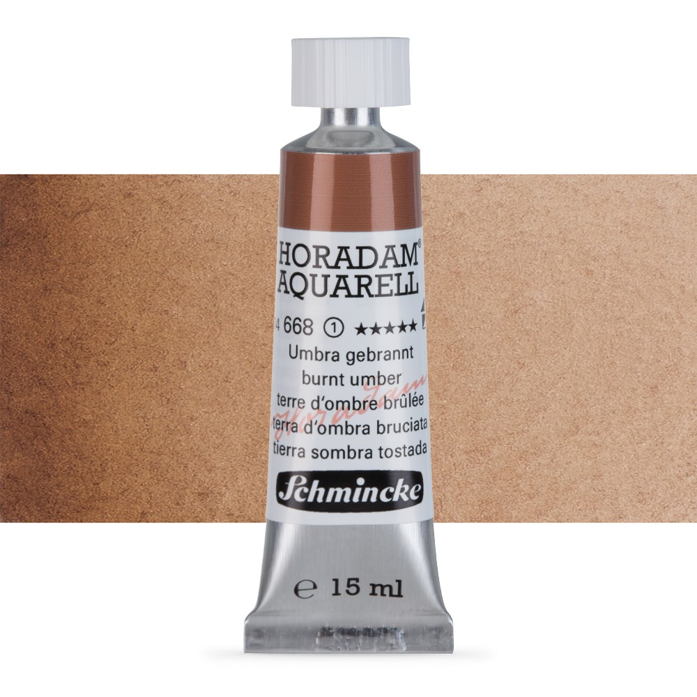 Schmincke : Horadam Watercolour Paint : 15ml : Burnt Umber