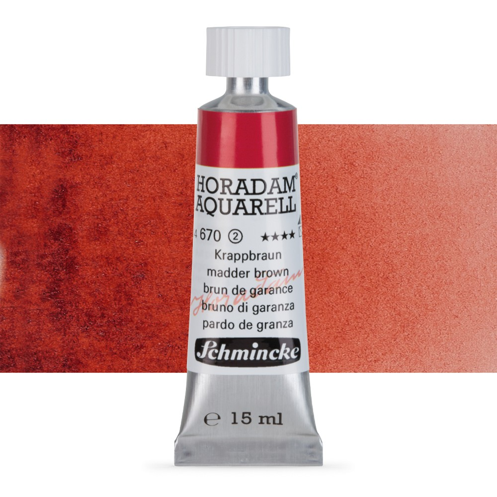 Schmincke : Horadam Watercolour Paint : 15ml : Madder Brown