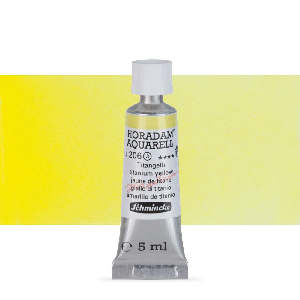 Schmincke : Horadam Watercolour Paint : 5ml : Titanium Yellow