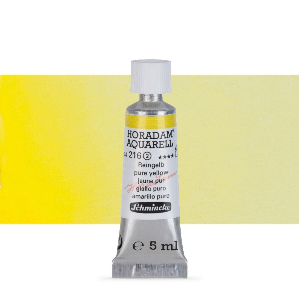 Schmincke : Horadam Watercolour Paint : 5ml : Pure Yellow