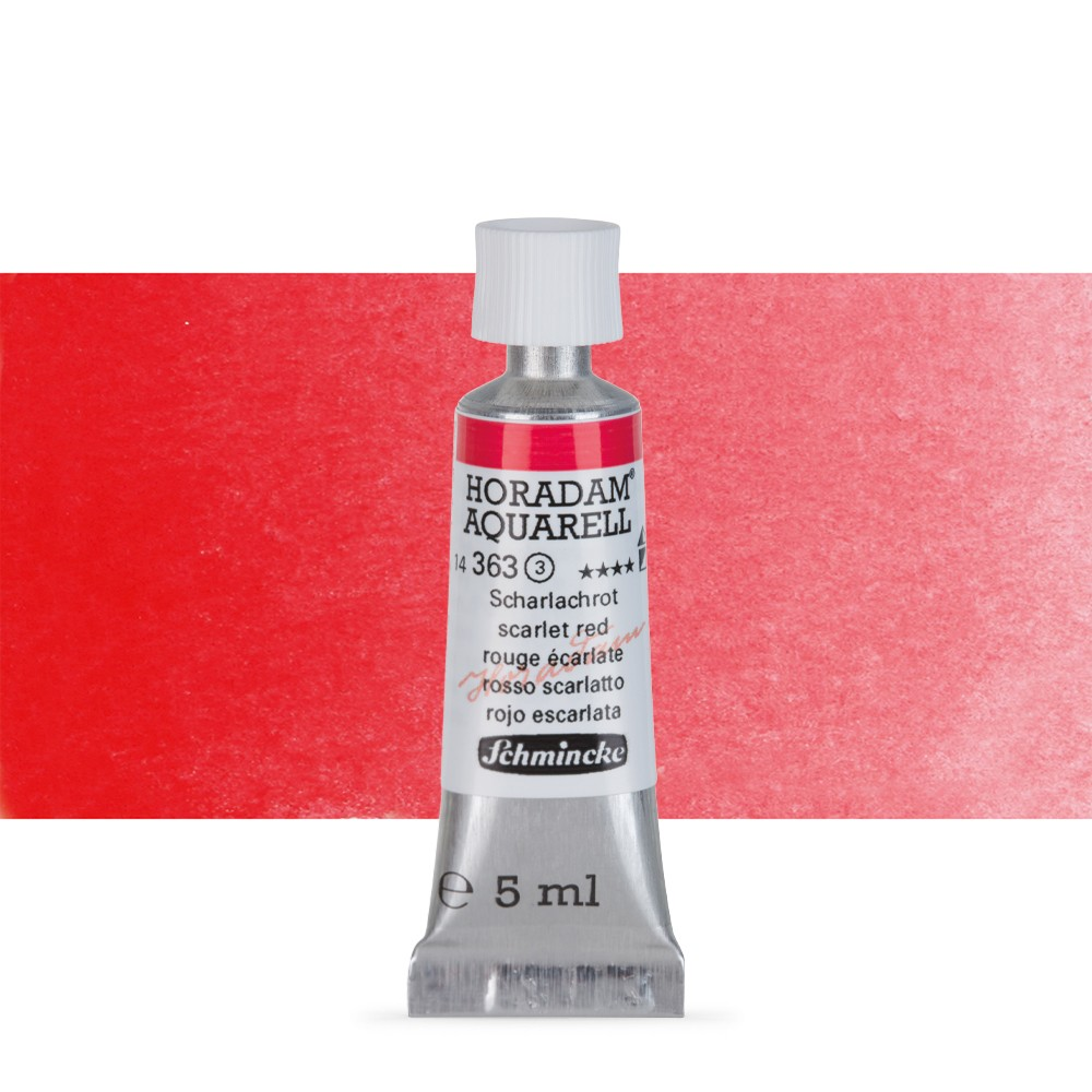 Schmincke : Horadam Watercolour Paint : 5ml : Scarlet Red