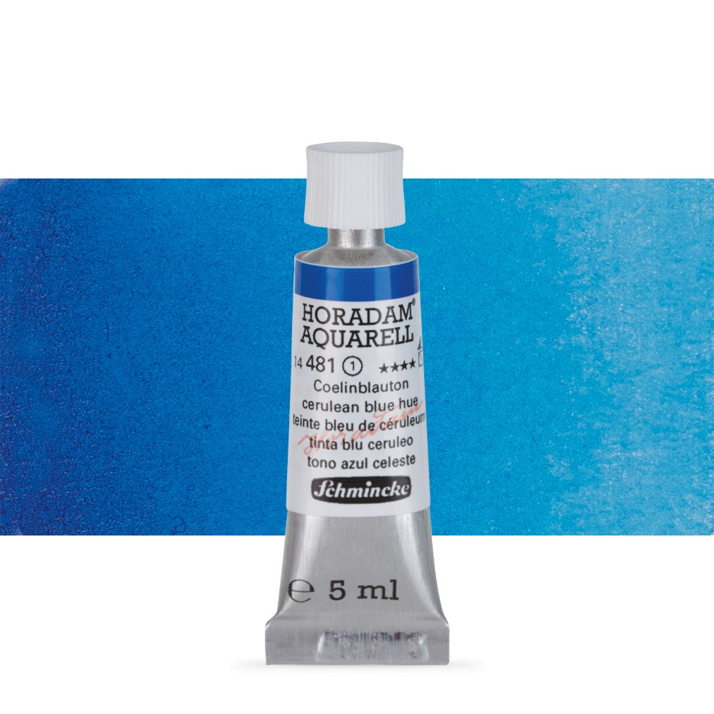 Schmincke : Horadam Watercolour Paint : 5ml : Cerulean Blue Tone
