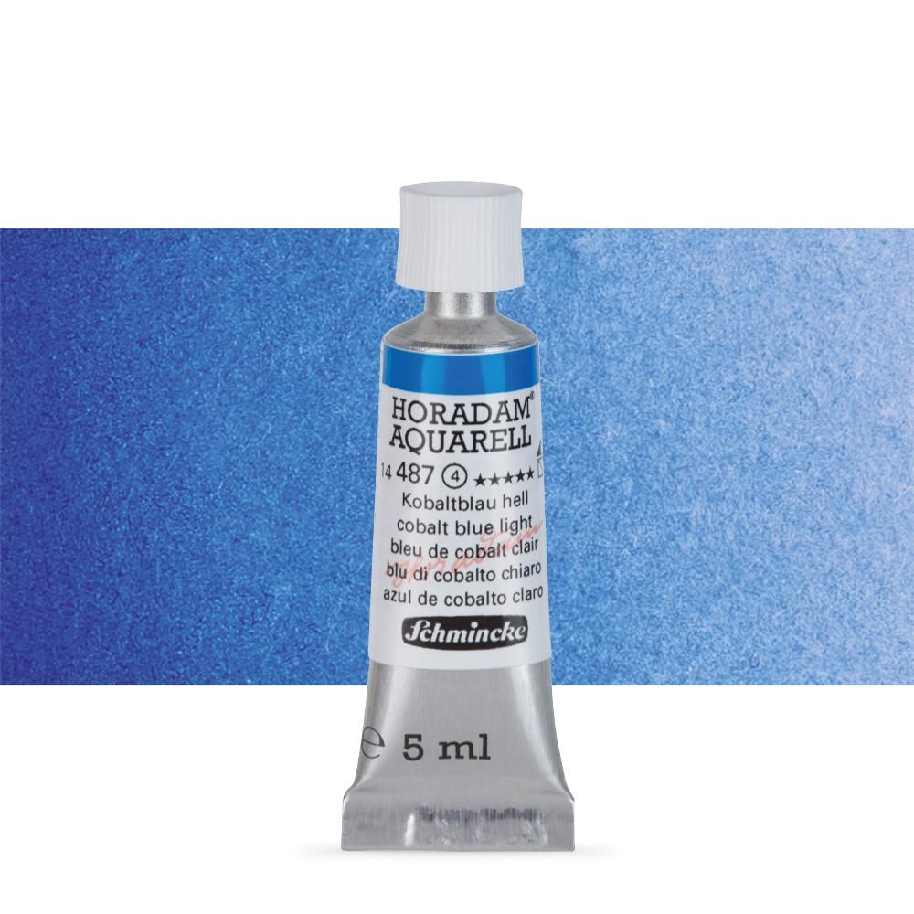 Schmincke : Horadam Watercolour Paint : 5ml : Cobalt Blue Light