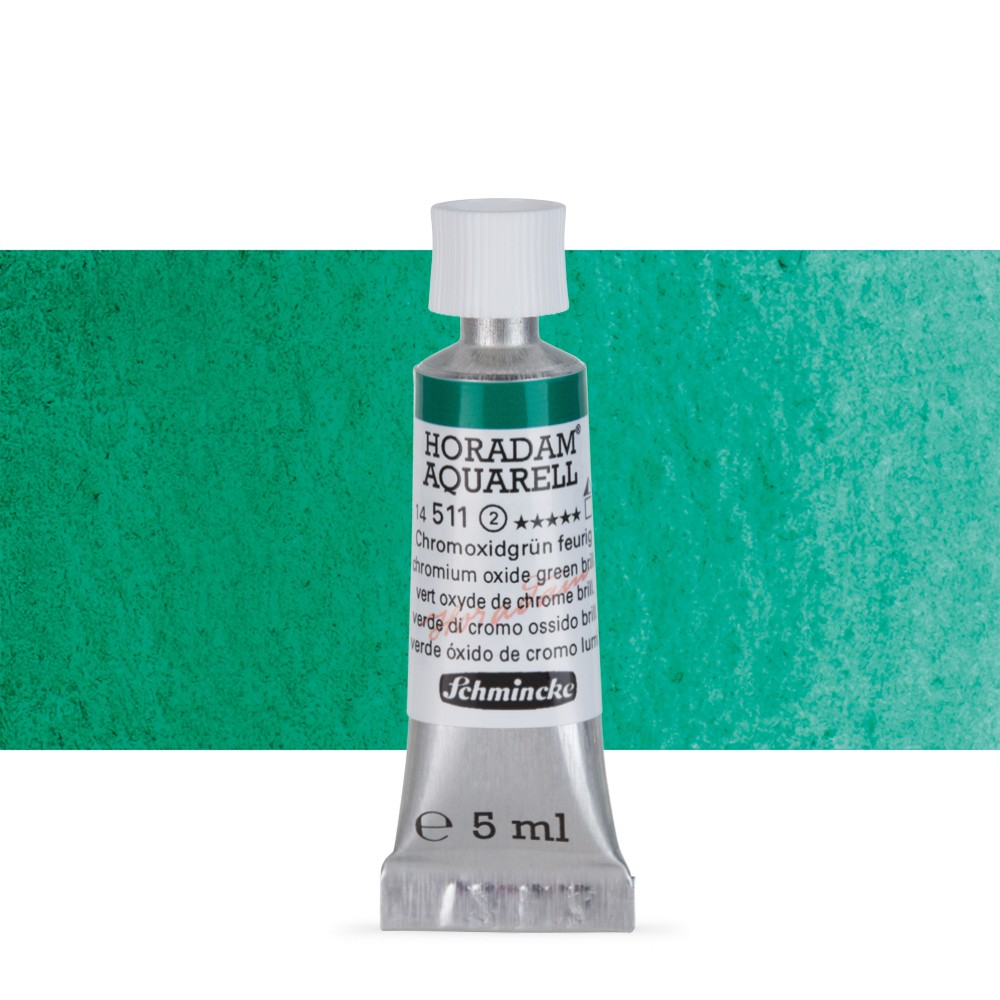 Schmincke : Horadam Watercolour Paint : 5ml : Chromium Oxide Green Brilliant