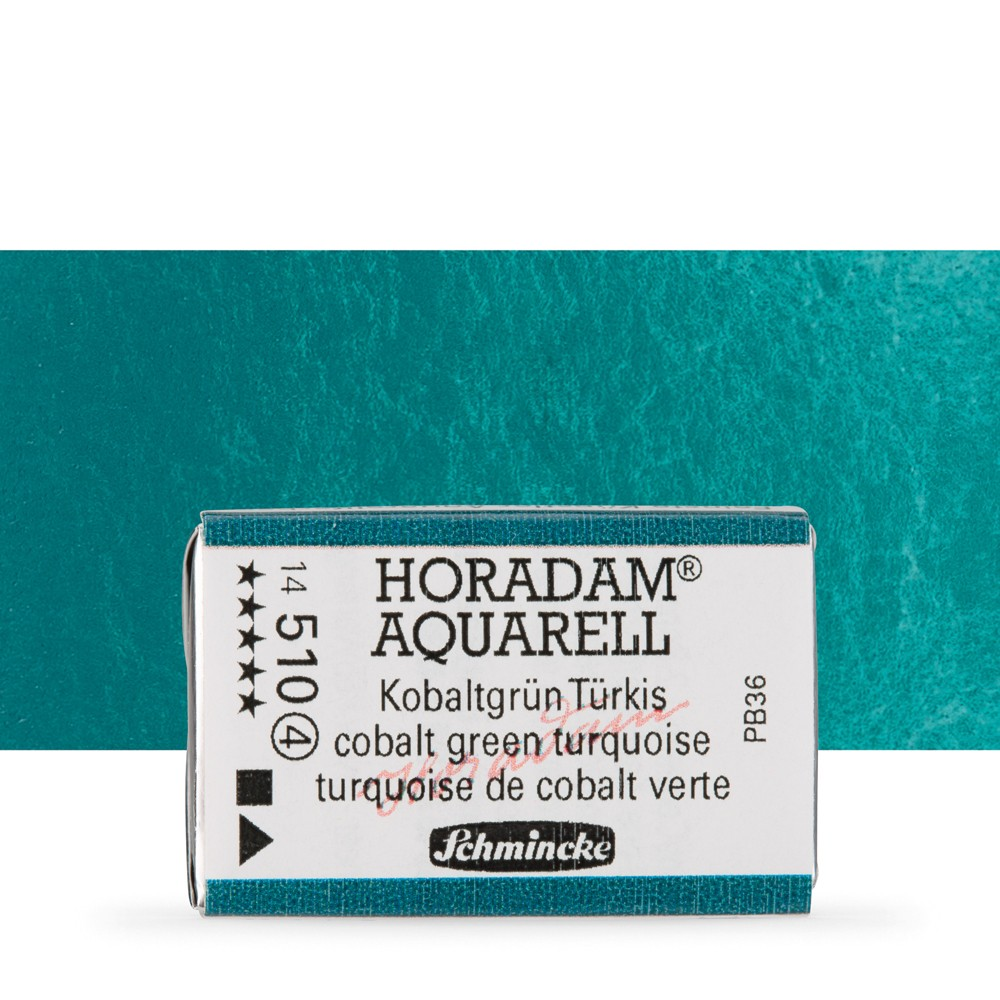 Schmincke : Horadam Watercolour Paint : Full Pan : Cobalt Green Turquoise