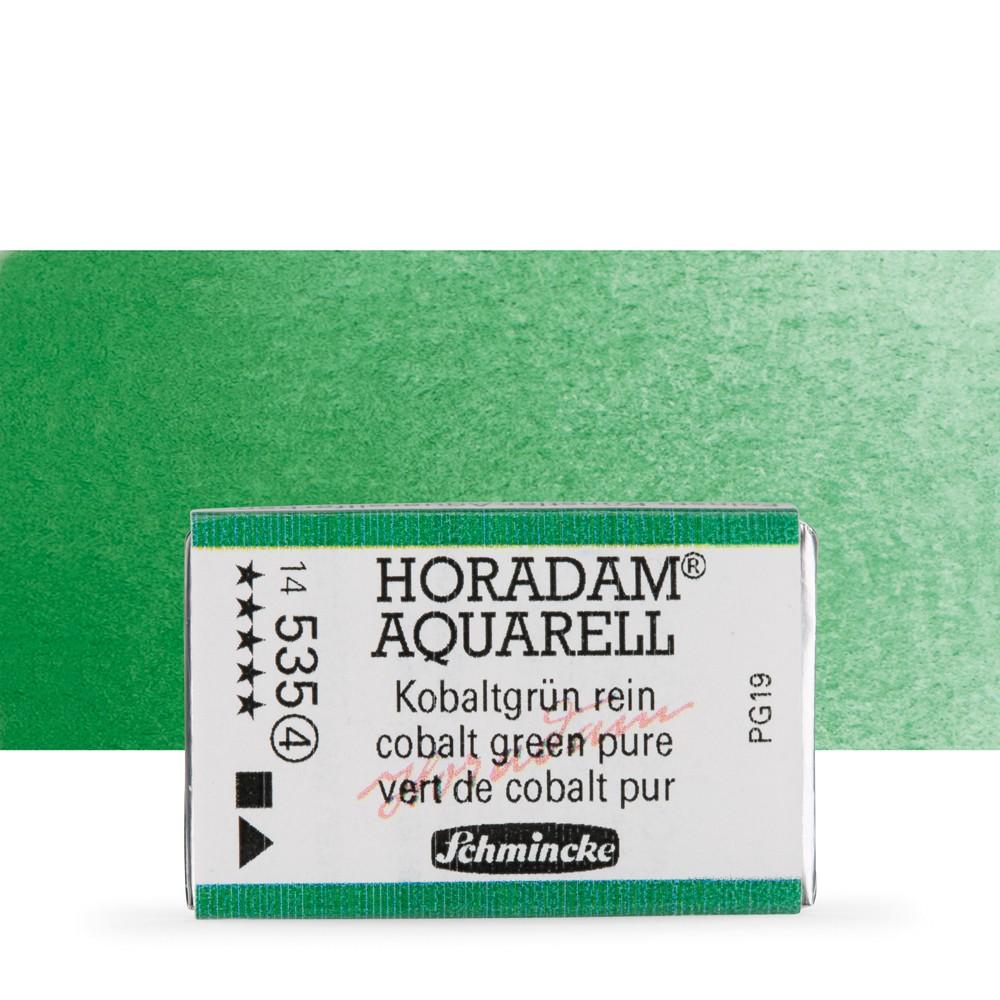Schmincke : Horadam Watercolour Paint : Full Pan : Cobalt Green Pure
