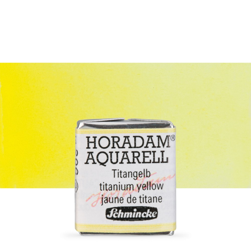 Schmincke : Horadam Watercolour Paint : Half Pan : Titanium Yellow