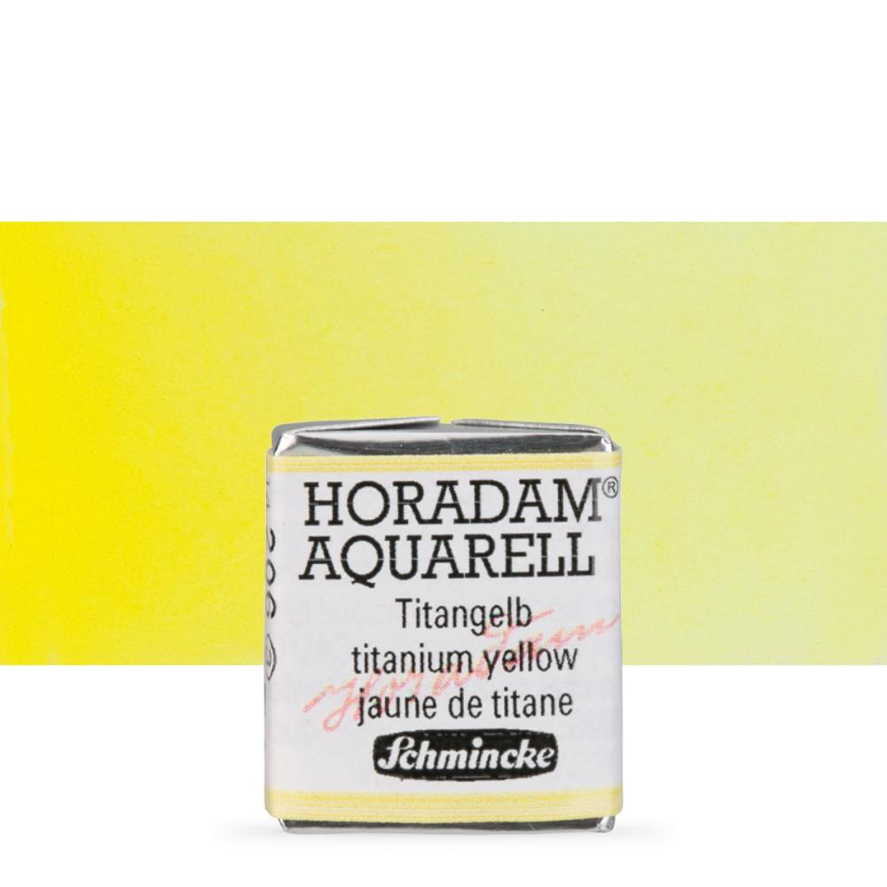 Schmincke : Horadam Watercolour Paint : Half Pan : Titanium Yellow