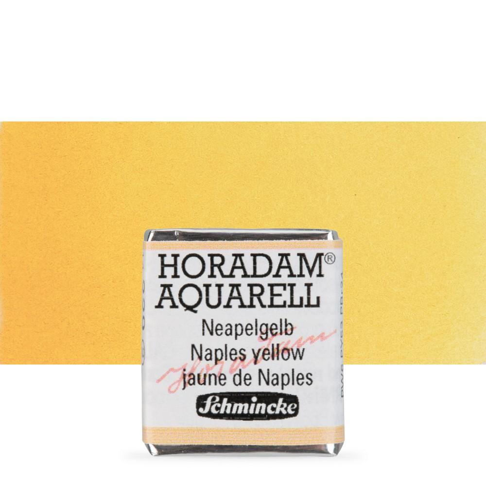 Schmincke : Horadam Watercolour Paint : Half Pan : Naples Yellow