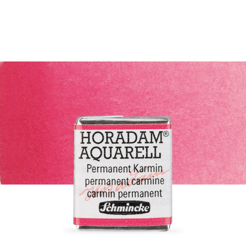 Schmincke : Horadam Watercolour Paint : Half Pan : Permanent Carmine