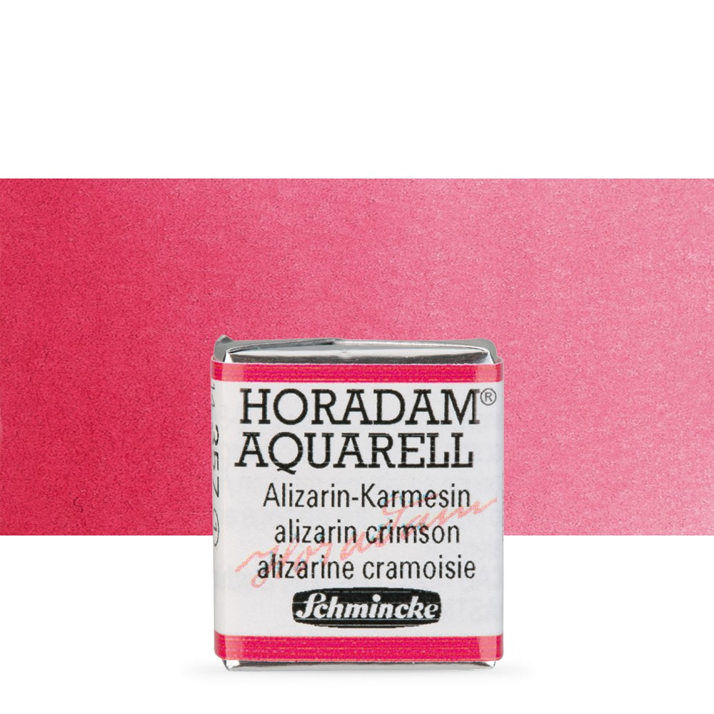 Schmincke : Horadam Watercolour Paint : Half Pan : Alizarin Crimson