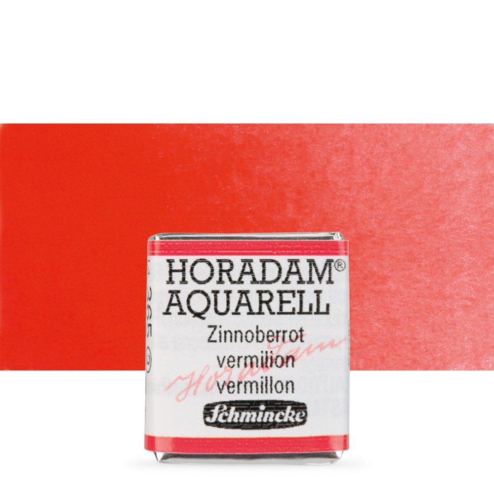 Schmincke : Horadam Watercolour Paint : Half Pan : Vermillion