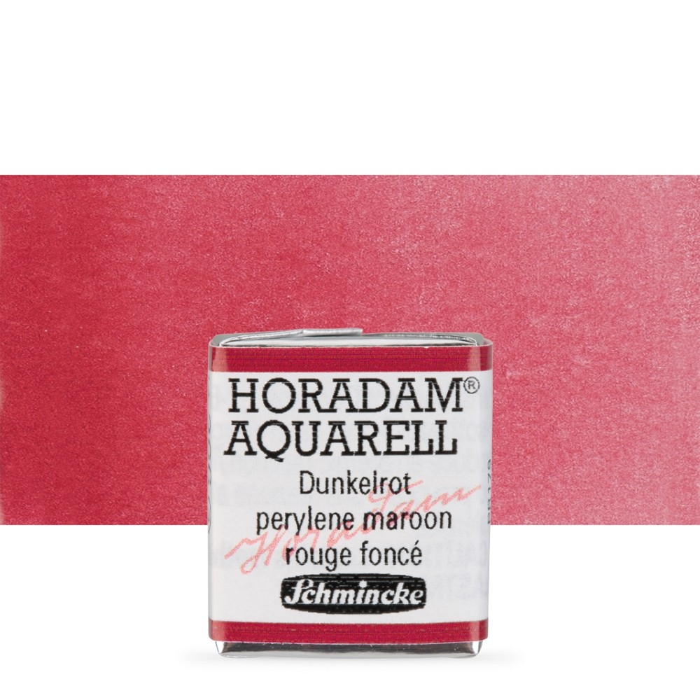 Schmincke : Horadam Watercolour : Half Pan : Perylene Maroon (Deep Red)