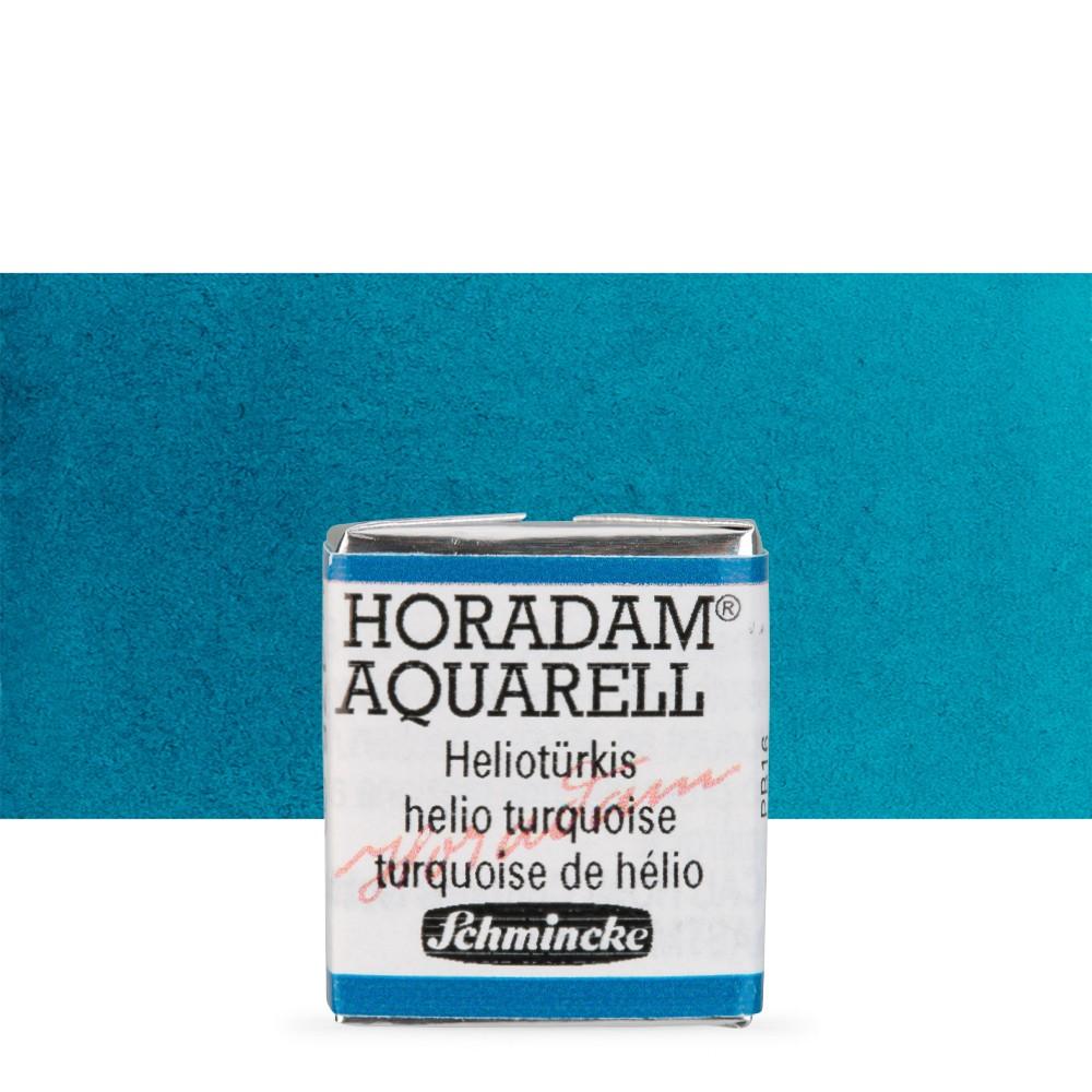 Schmincke : Horadam Watercolour Paint : Half Pan : Helio Turquoise