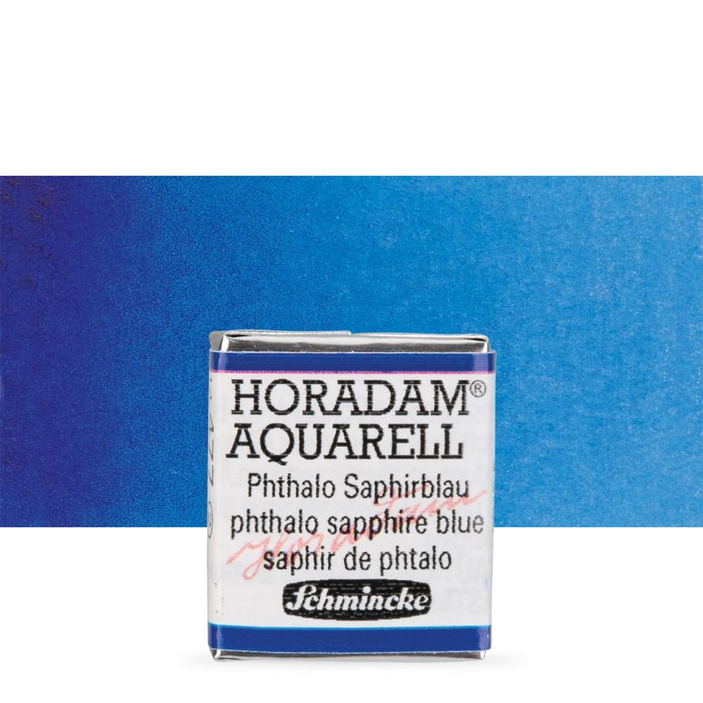 Schmincke : Horadam Watercolour Paint : Half Pan : Phthalo Sapphire Blue
