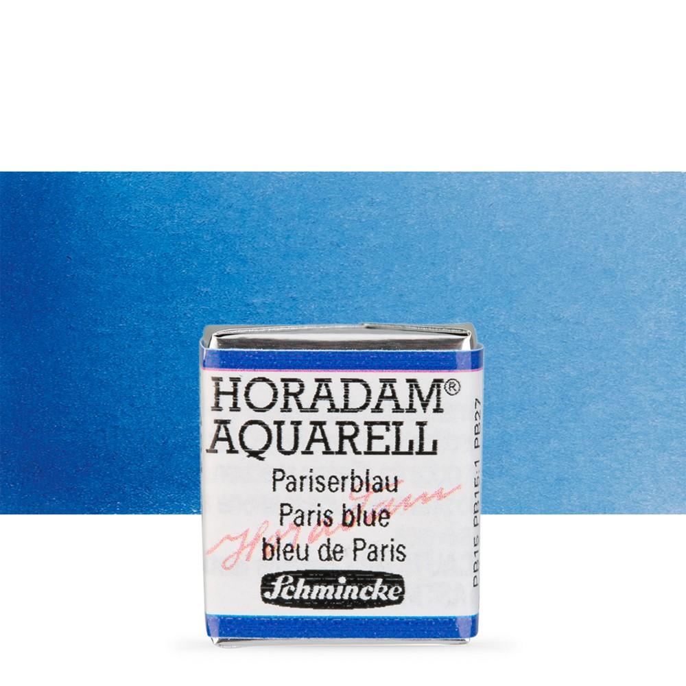 Schmincke : Horadam Watercolour Paint : Half Pan : Paris Blue