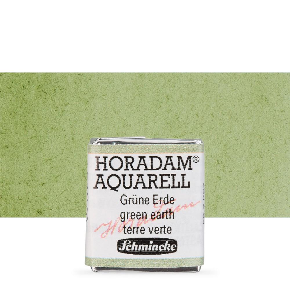 Schmincke : Horadam Watercolour Paint : Half Pan : Green Earth