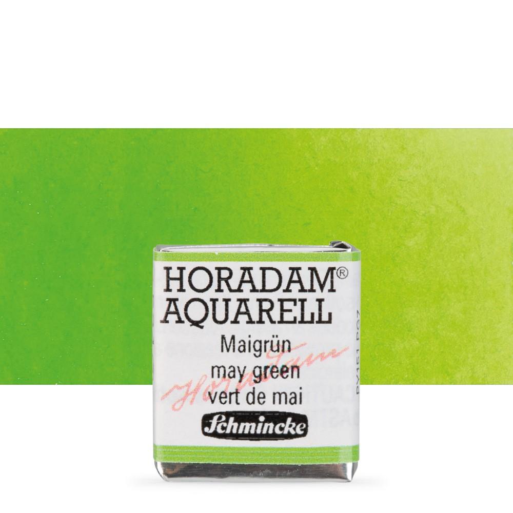 Schmincke : Horadam Watercolour Paint : Half Pan : May Green
