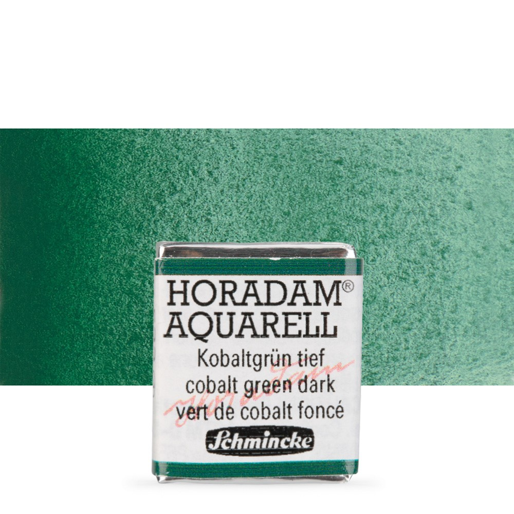 Schmincke : Horadam Watercolour Paint : Half Pan : Cobalt Green Dark