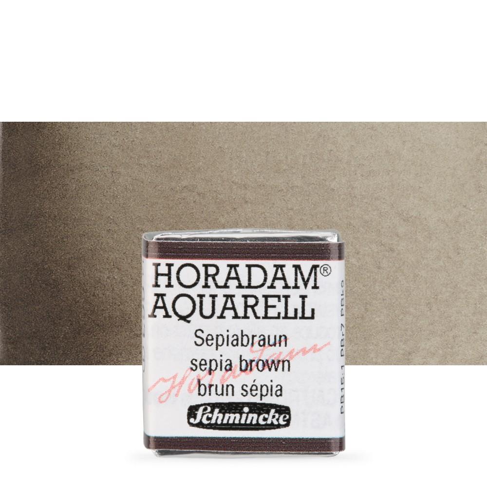 Schmincke : Horadam Watercolour Paint : Half Pan : Sepia Brown