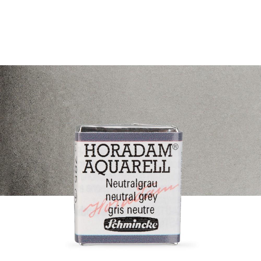 Schmincke : Horadam Watercolour Paint : Half Pan : Neutral Grey