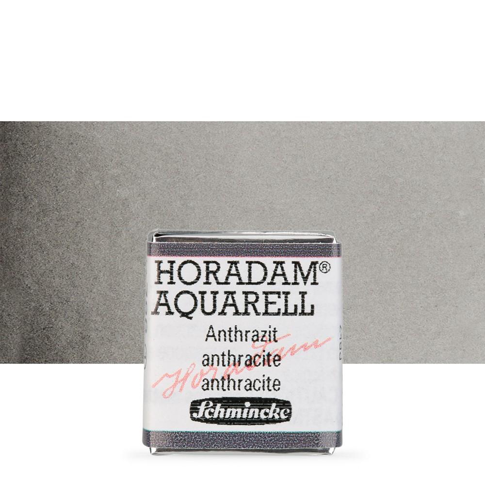 Schmincke : Horadam Watercolour : Half Pan : Anthracite (Charcoal Grey)
