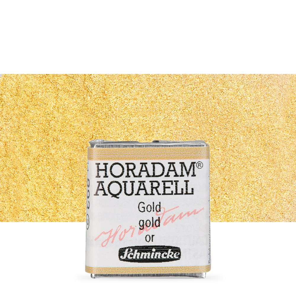 Schmincke : Horadam Watercolour Paint : Half Pan : Gold