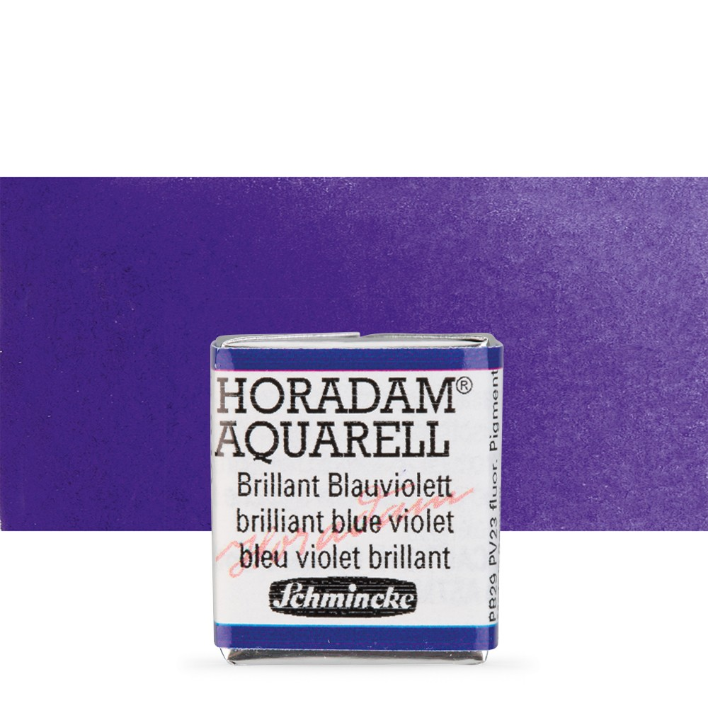 Schmincke : Horadam Watercolour : Half Pan : Brilliant Blue Violet