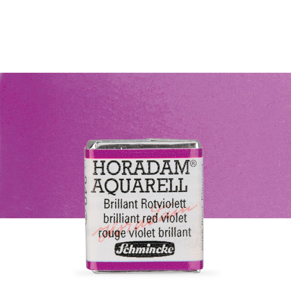 Schmincke : Horadam Watercolour Paint : Half Pan : Brilliant Red Violet