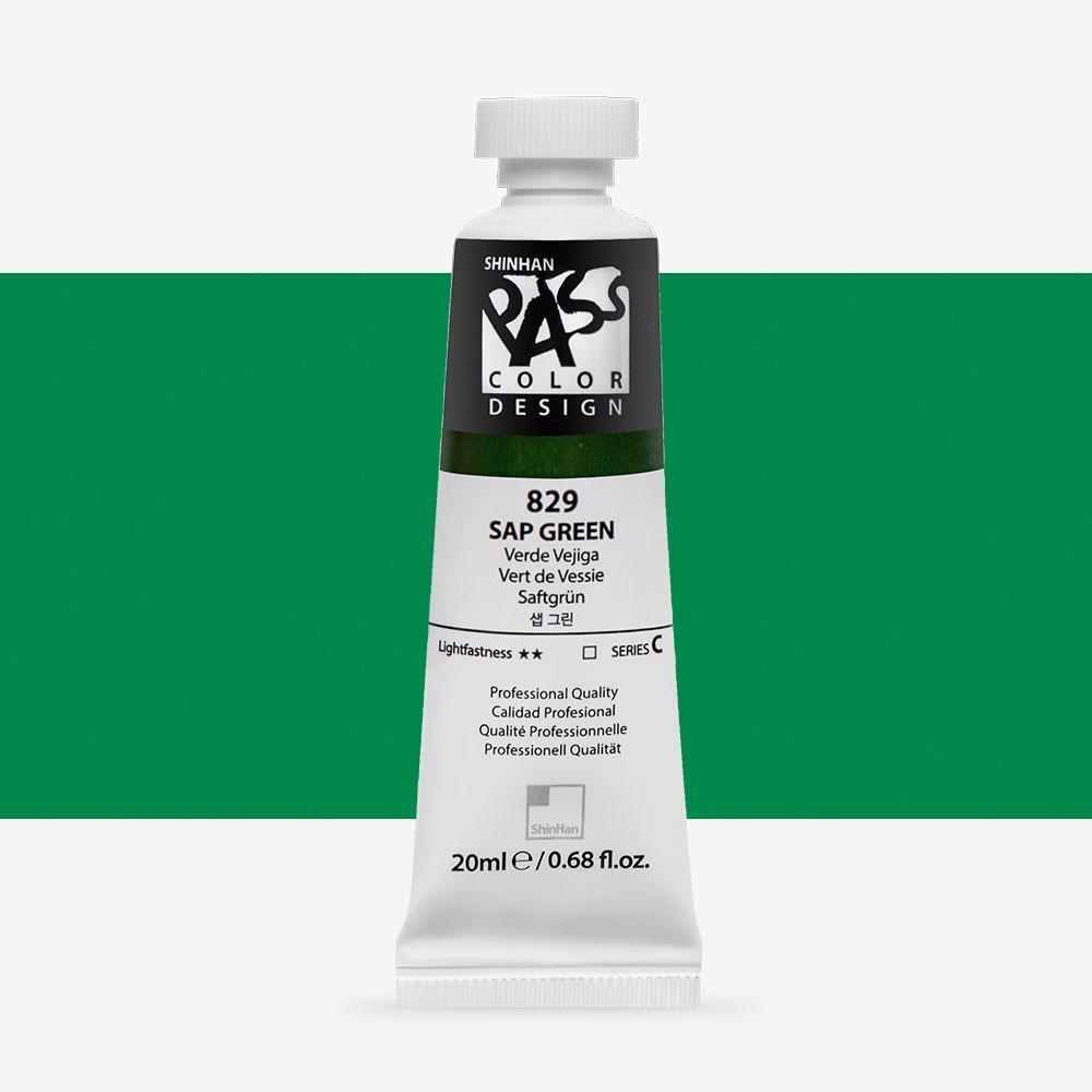 ShinHan : Pass : Watercolour and Gouache Hybrid Paint : 20ml : Sap Green