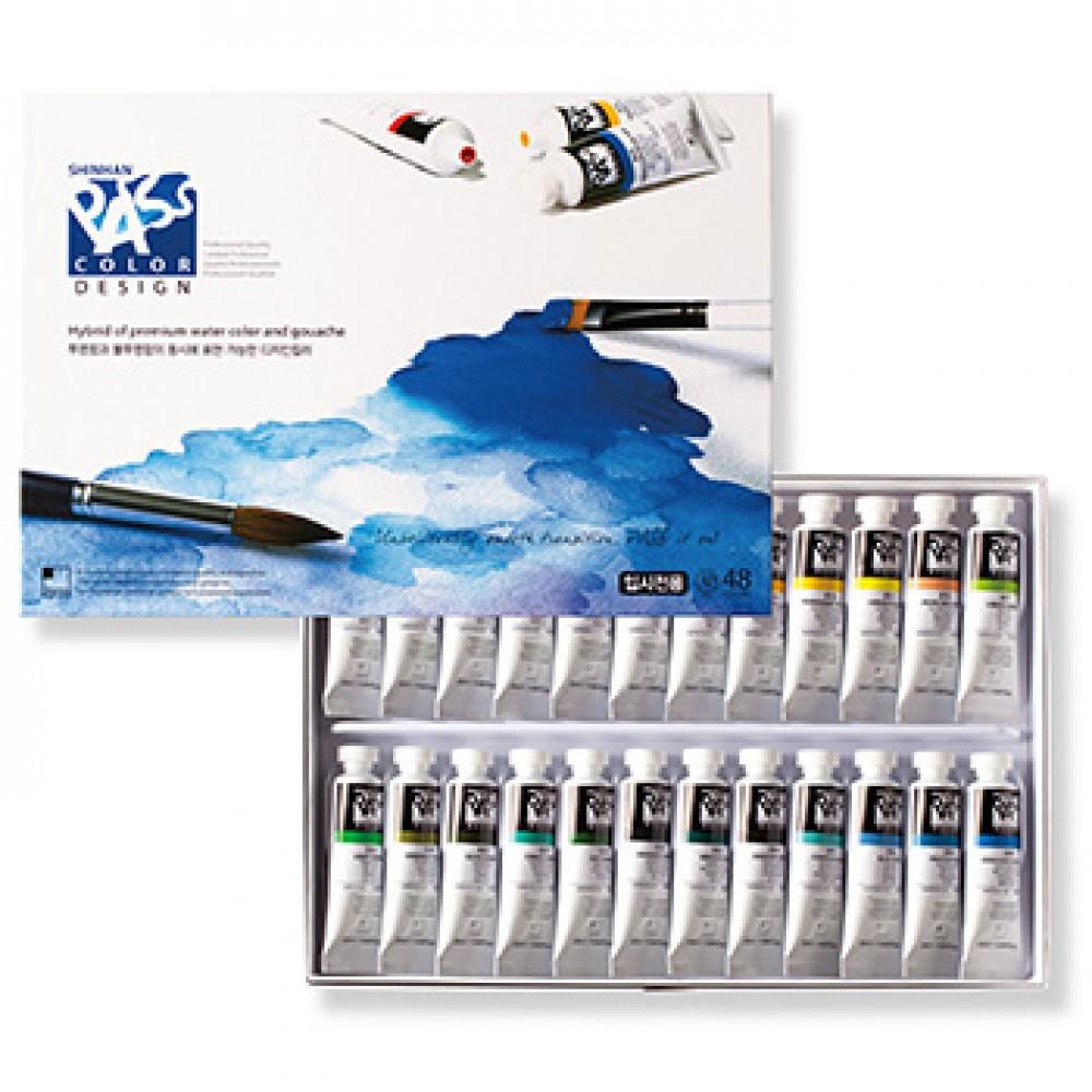 ShinHan : Pass : Watercolour and Gouache Hybrid Paint : 20ml : Set of 48