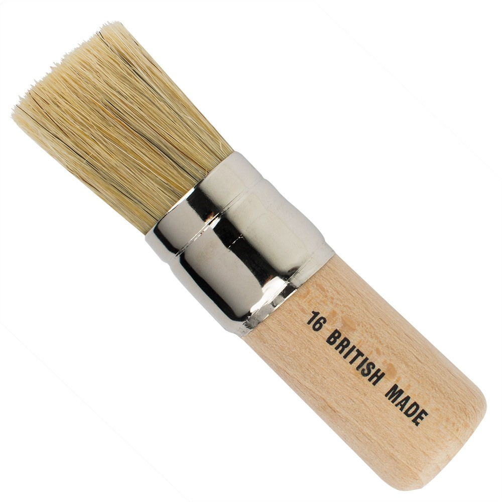 Handover : White Bristle Stencil Brush : #16 - 1 in