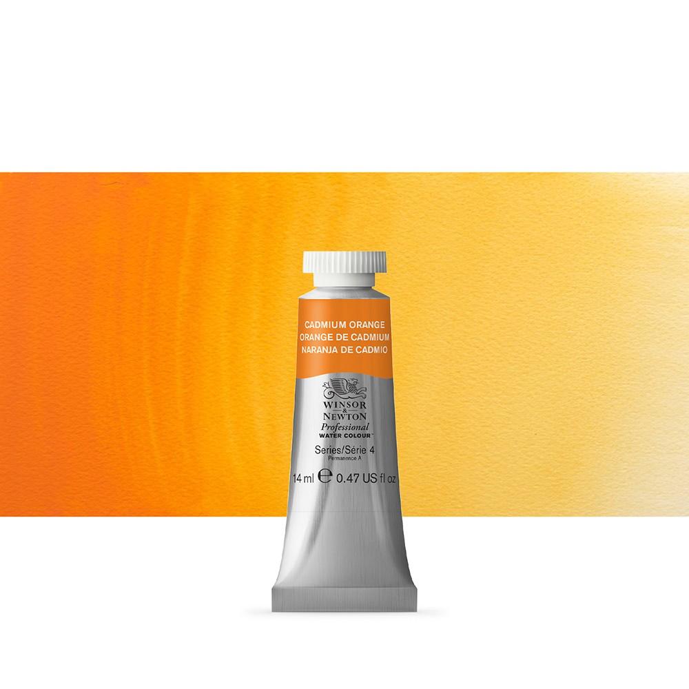 Winsor & Newton : Professional Watercolour Paint : 14ml : Cadmium Orange