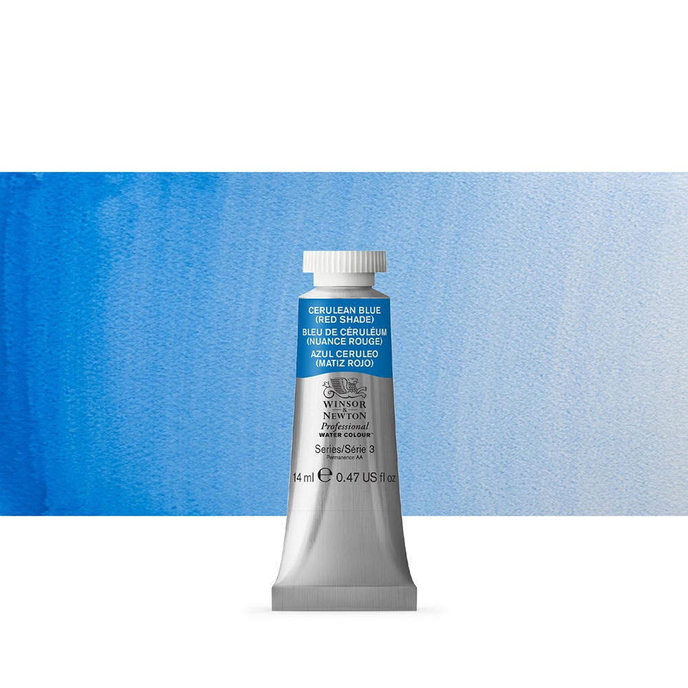 Winsor & Newton : Professional Watercolour Paint : 14ml : Cerulean Blue (Red Shade)