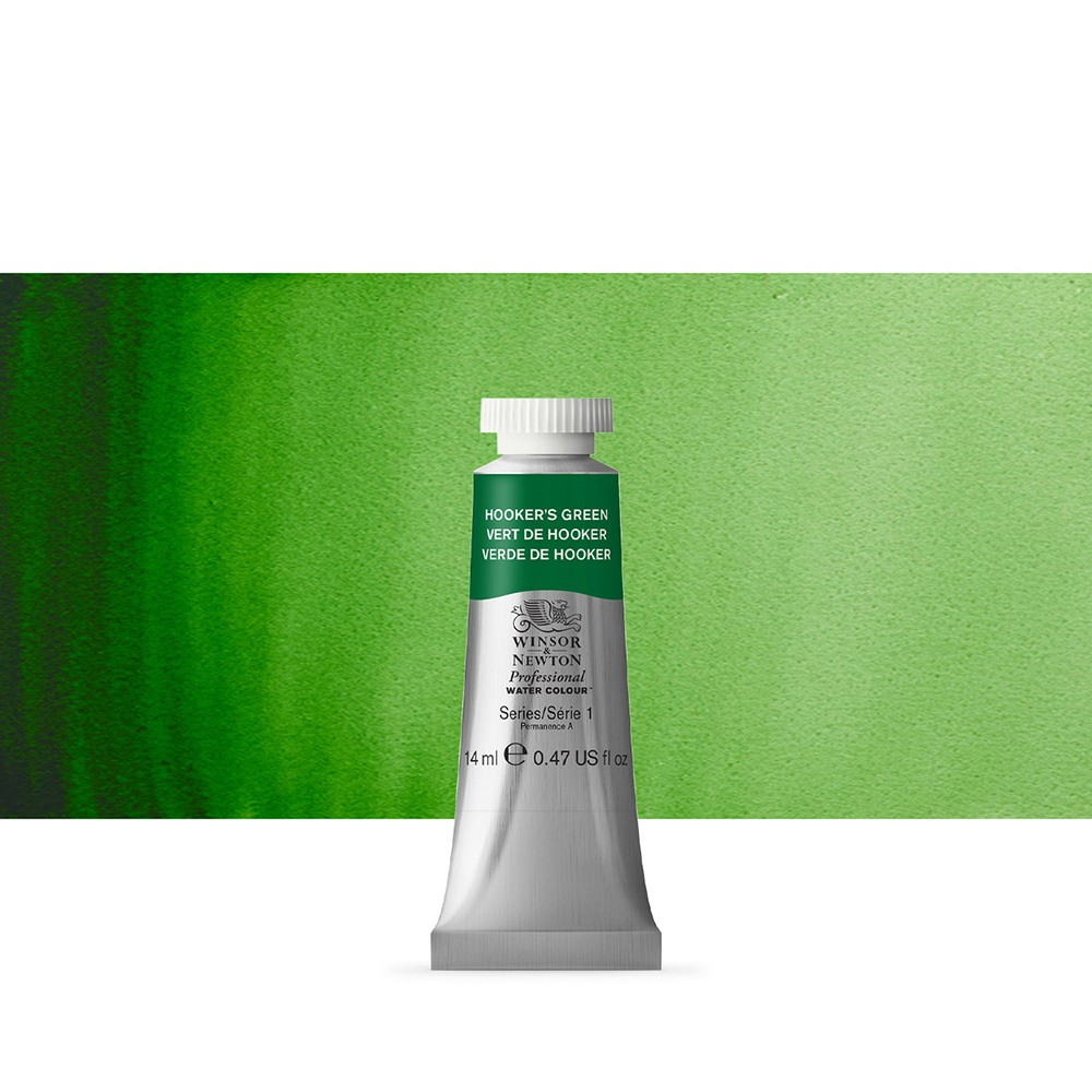 Winsor & Newton : Professional Watercolour Paint : 14ml : Hookers Green