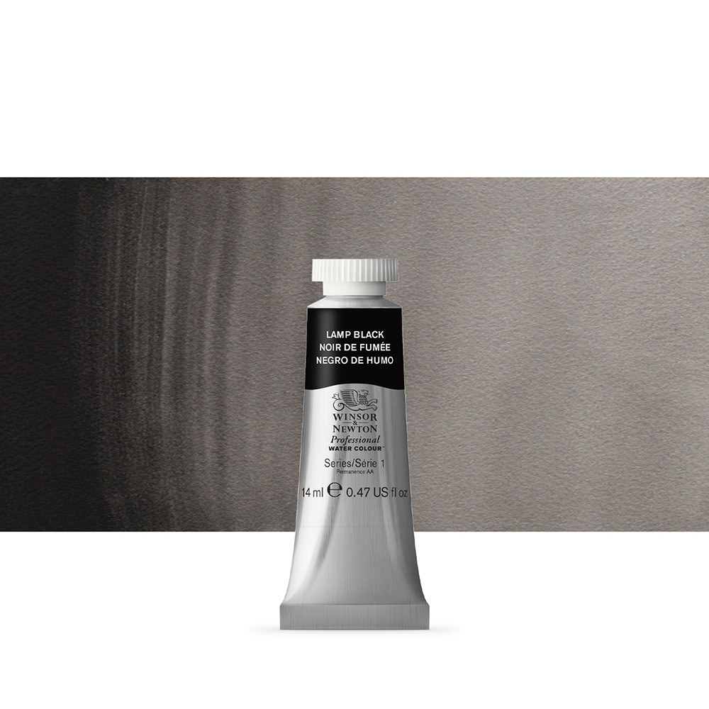 Winsor & Newton : Professional Watercolour Paint : 14ml : Lamp Black
