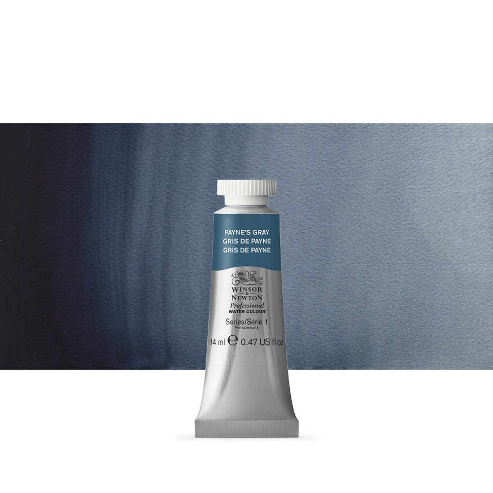Winsor & Newton : Professional Watercolour Paint : 14ml : Paynes Grey