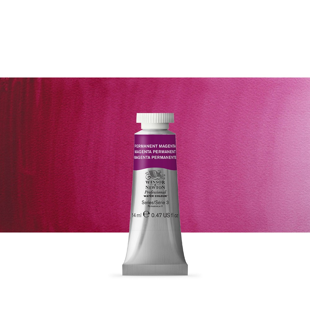 Winsor & Newton : Professional Watercolour Paint : 14ml : Permanent Magenta