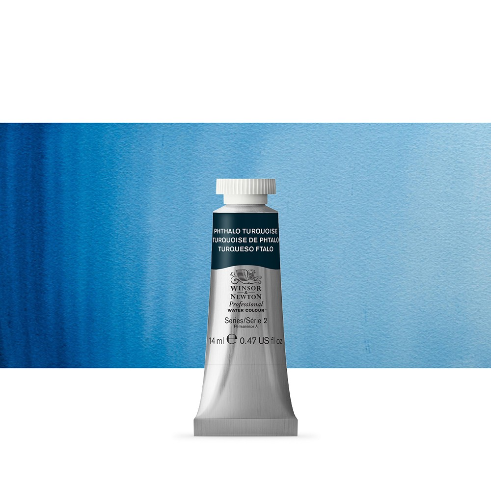 Winsor & Newton : Professional Watercolour Paint : 14ml : Phthalo Turquoise