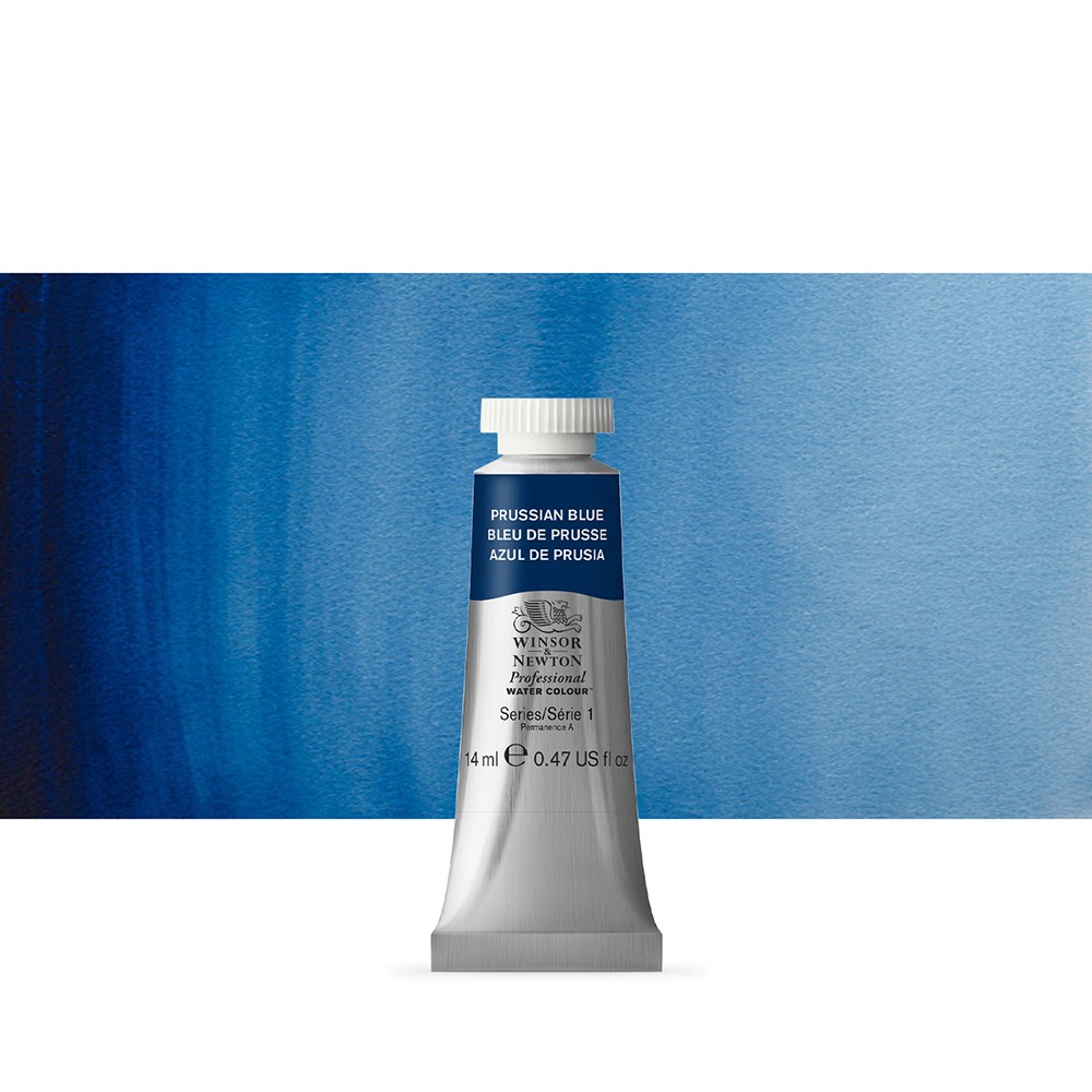 Winsor & Newton : Professional Watercolour Paint : 14ml : Prussian Blue